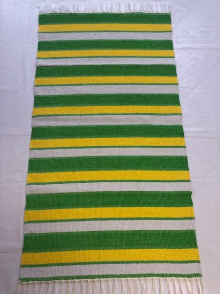 ALBINA szőnyeg kiscsikos 4-es zöld -napsárga-fehér 4-es zöld elválasztó