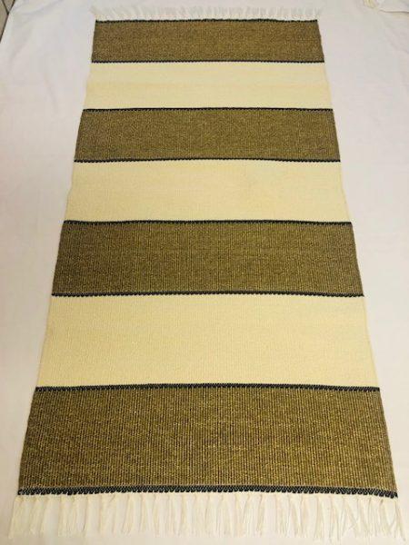 ALBINA szőnyeg vastagcsikos Franciabézs-arany 1 es barna elválsztó