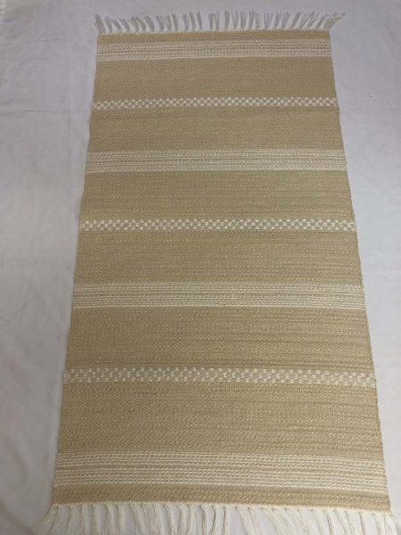 ALBINA szőnyeg hatszínű Bézs alap- fehér kocka csík